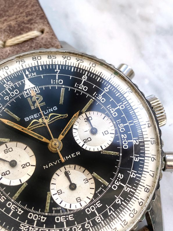Attractive AOPA Breitling Navitimer Chronograph Ref 806 Vintage Chronograph Military
