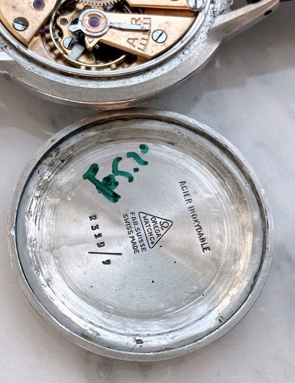Tolle Omega Oversize Jumbo Vintage 38mm weisses Ziffernblatt restauriert
