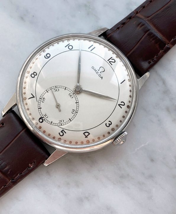 Wonderful Omega Oversize Jumbo Vintage Restored White Dial