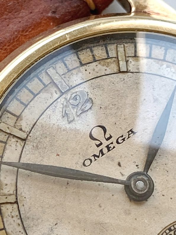 Rare Omega Solid Gold Sector Dial 30mm Lady