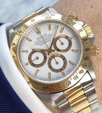 Serviced Vintage Rolex Zenith Daytona Steel Gold 16523