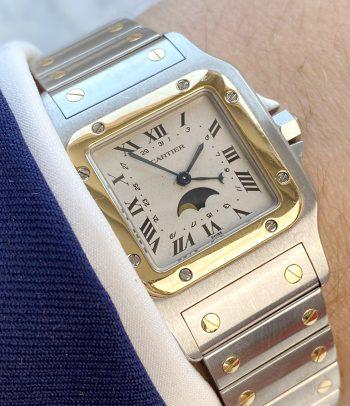 Marvelous Vintage Cartier Santos Moonphase 119901 Quarz Quartz