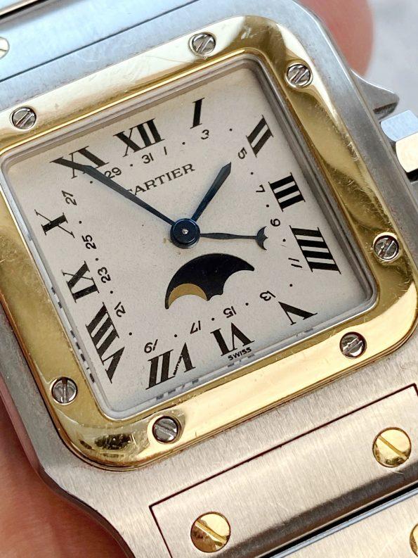 Vintage Cartier Santos Moonphase 119901 Quarz Quartz