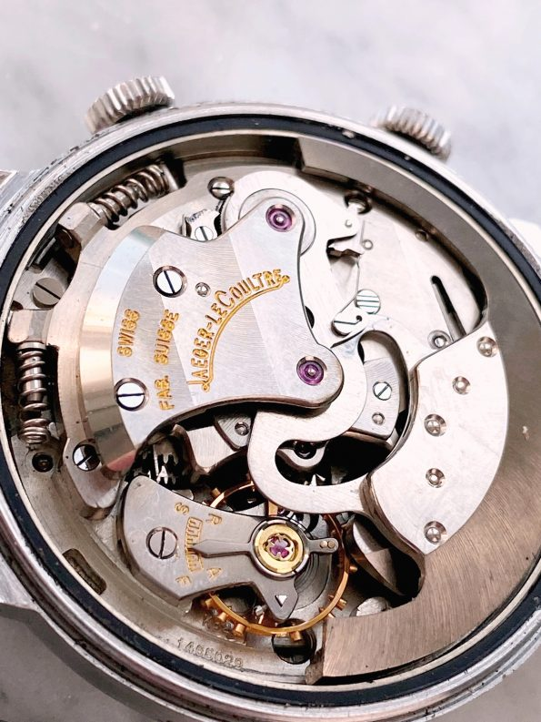 LOUD Vintage Jaeger LeCoultre Wrist ALARM Memovox Steel 37mm