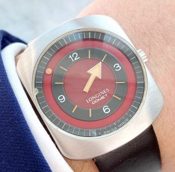 Longines Comet RARE RED DIAL Vintage