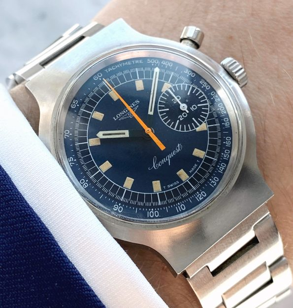 Vintage Longines Conquest Munich 1972 Olympic Games Blue dial