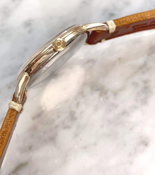 Serviced Vintage Omega Oversize Jumbo Black Restored GILT Dial Rose Gold Plated