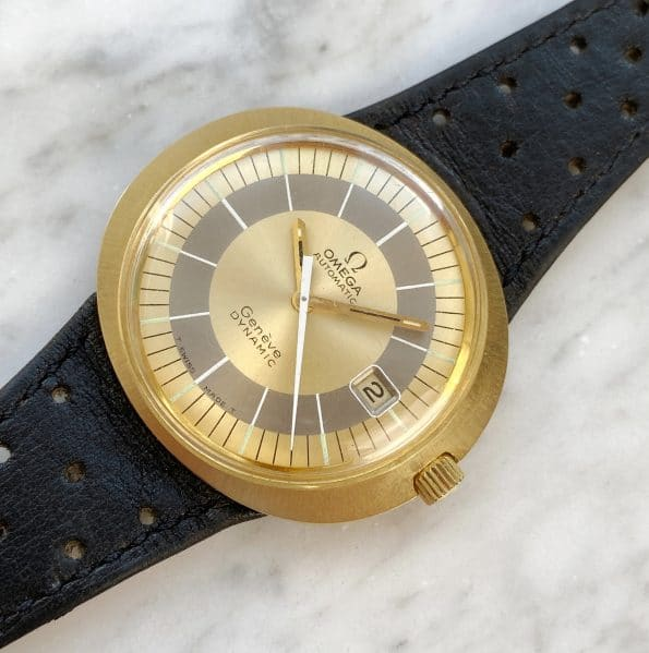 RARE Omega Geneve Dynamic Automatic Solid Gold