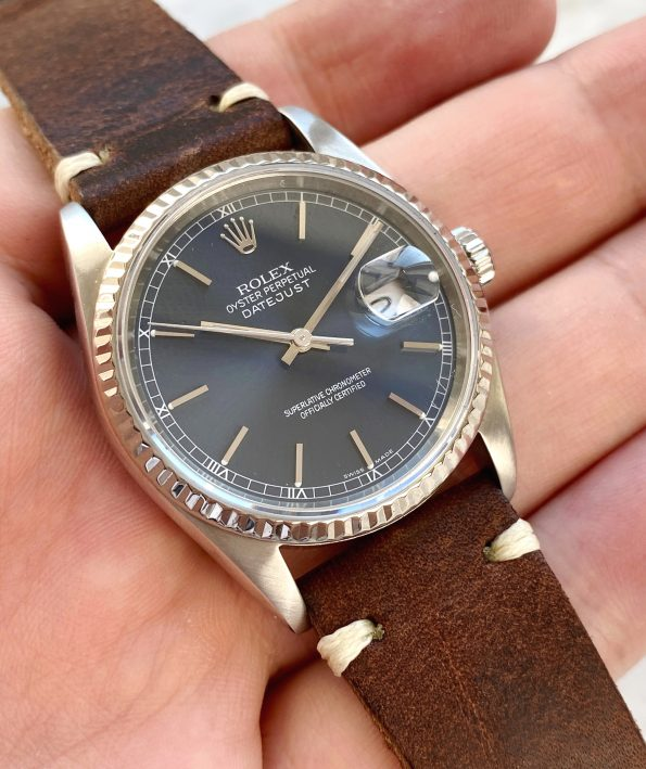 Rolex Datejust Sapphire Crystal Blue Dial ref 16234
