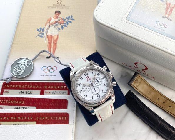 Full Set Omega De Ville Olympic Box Papers Enamel Dial