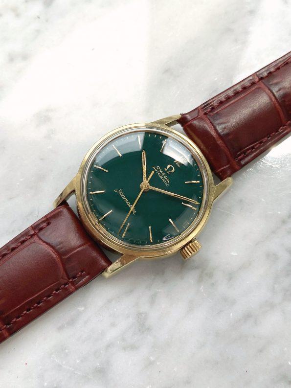Ladies Lady Damen Customised Omega Seamaster Automatic Vintage Custom Green Restored Dial 2790