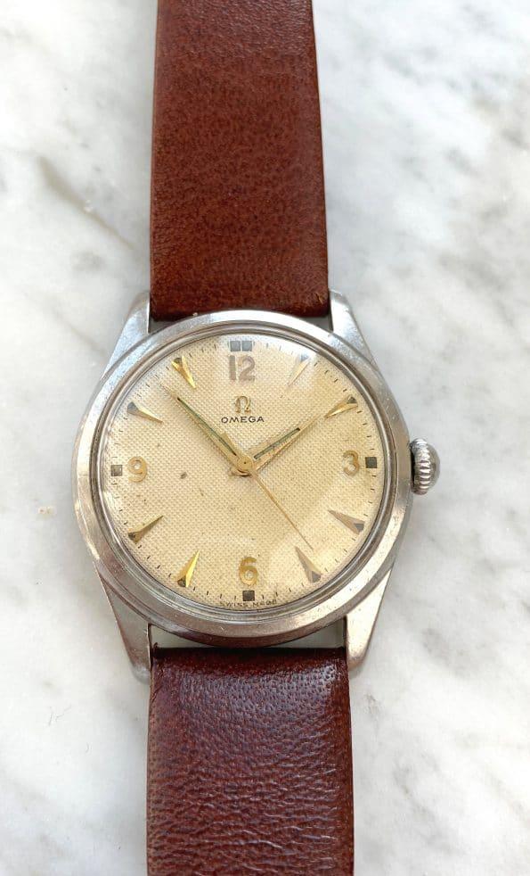 Vintage Omega Handwinding 33mm Honeycomb Explorer Dial