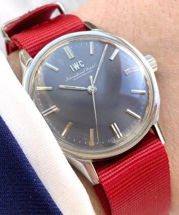 34mm IWC Handwinding Watch with beautiful grey dial