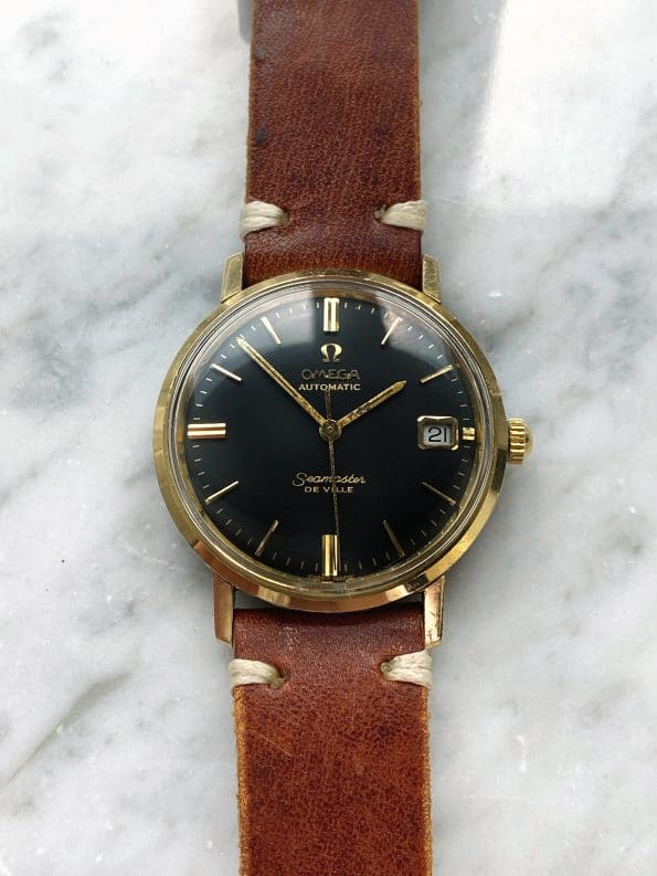 Vintage Omega Seamaster De Ville Automatic Black Restored Dial