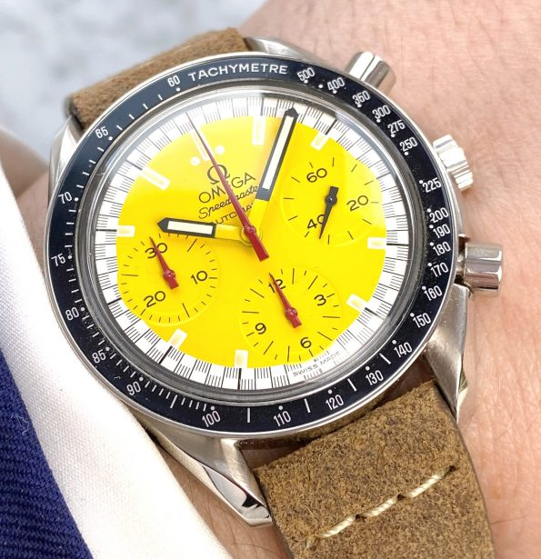 Michael Schumacher Edition Omega Speedmaster Reduced Racing Yellow Dial 39mm