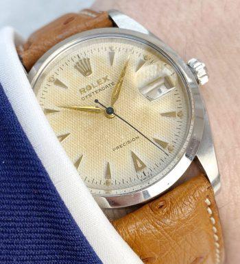 Honigwaben Ziffernblatt Rolex Oysterdate Precision Ref 6494 Vintage
