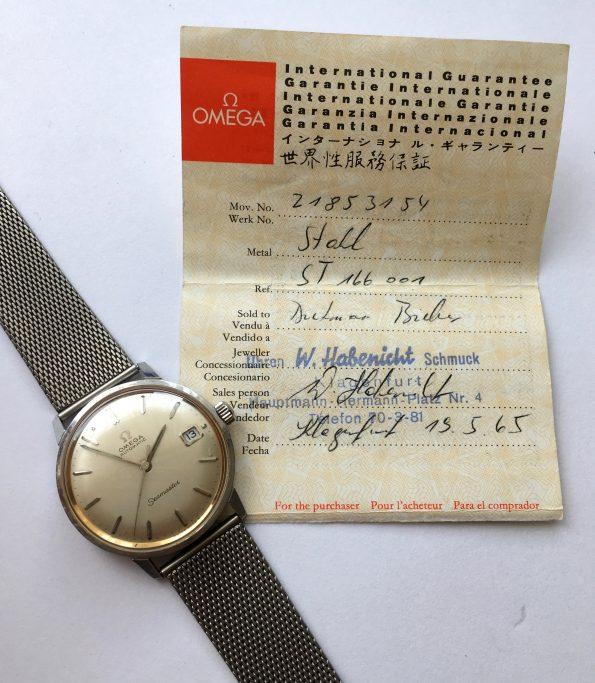 Originalpapiere Omega Seamaster Automatik Vintage