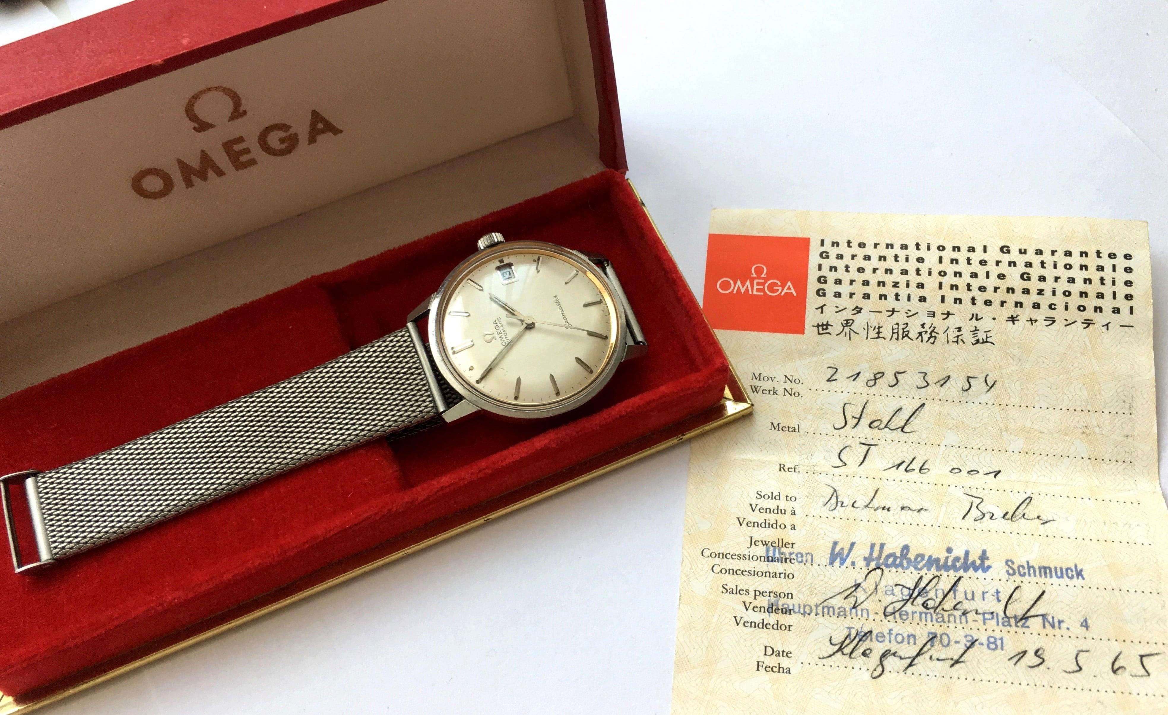 Original Papers Omega Seamaster Automatic Vintage