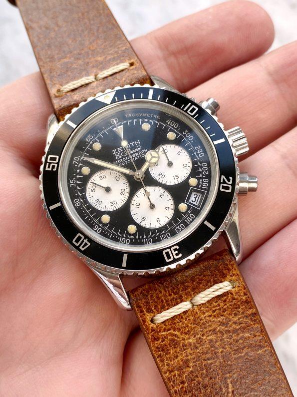 "Vintage Zenith el Primero de Luca ""Zenith Daytona"" Chronograph MK3 020310400 Reverse Panda"