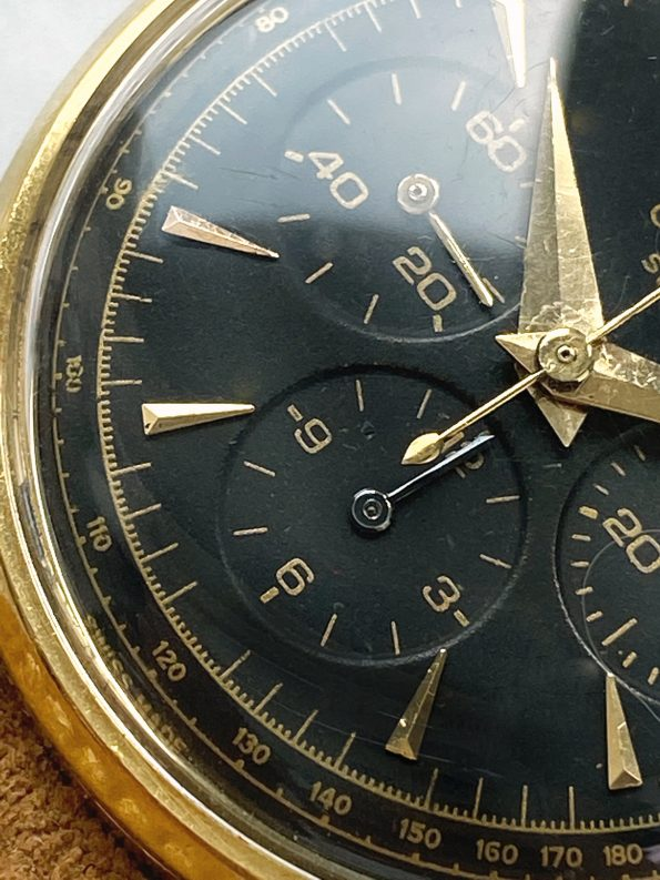 Vintage Omega Chronograph Solid Yellow Gold cal 321 35mm Ref 2279