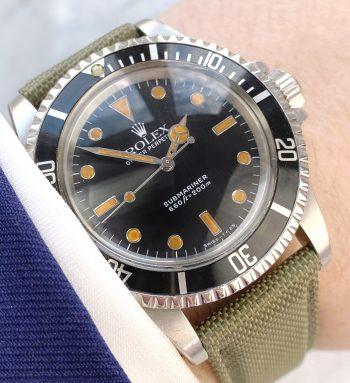 Tritium Vintage Rolex Ref 5513 Submariner Automatic Plexiglass 1988 Cream Lume James Bond