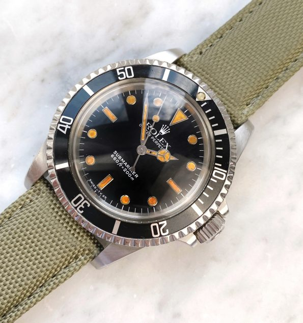 Tritium Vintage Rolex Ref 5513 Submariner Automatic Plexiglass 1988 Cream Lume James Bond
