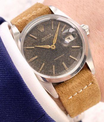 Beautiful Chocolate Dial Rolex Oysterdate Precision Handwinding brown dial