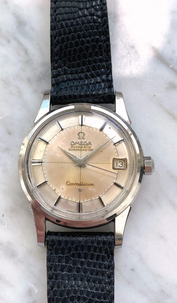 Vintage Omega Constellation Pie Pan Automatic Serviced Onyx Indices Crosshair Dial