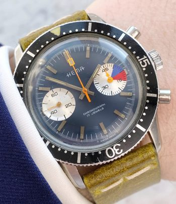 Rare Hema Yachting Chronograph 41mm thick case
