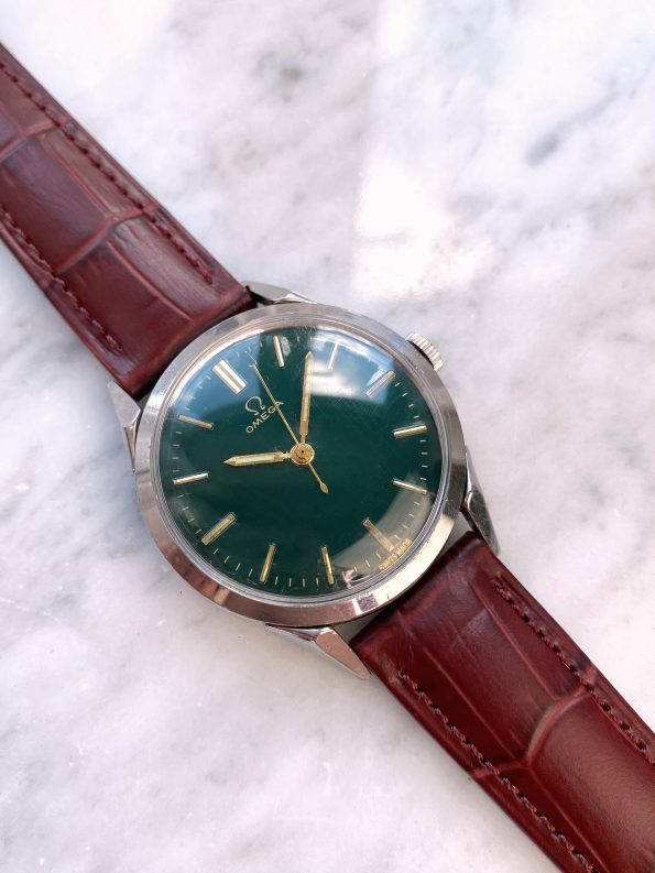 Customised Vintage Omega 35mm Green Restored Dial 2608