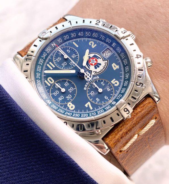 Breitling Thunderbirds Chronomat Blue Dial Limited Edition Full Set