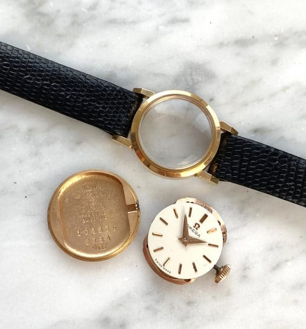 Beautiful Small Vintage Omega Lady Solid Pink Gold Rose Gold