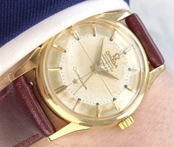 Rare Omega Constellation Pie Pan Automatic 18ct Solid Gold Double Signed Türler Dial
