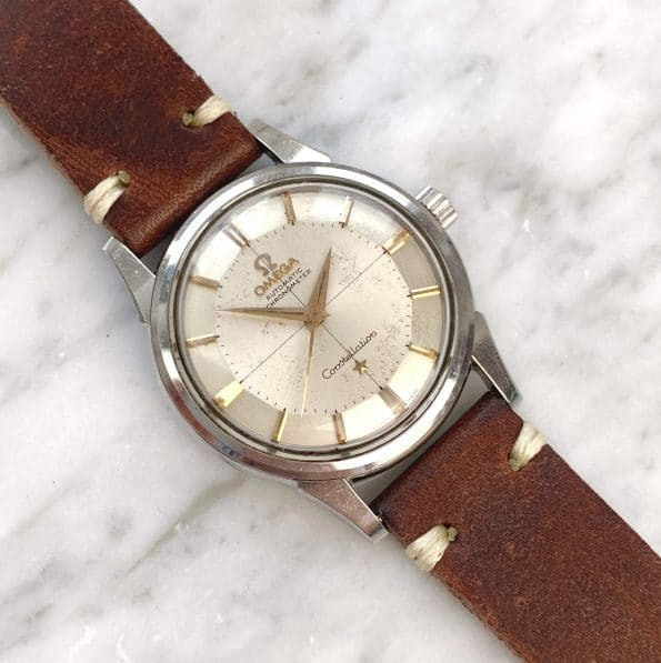 Unpolished Vintage Omega Constellation Pie Pan Automatic Crosshair Dial