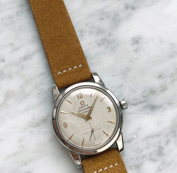 Restored Omega Seamaster Automatic Vintage Honeycomb Dial 2846 2848
