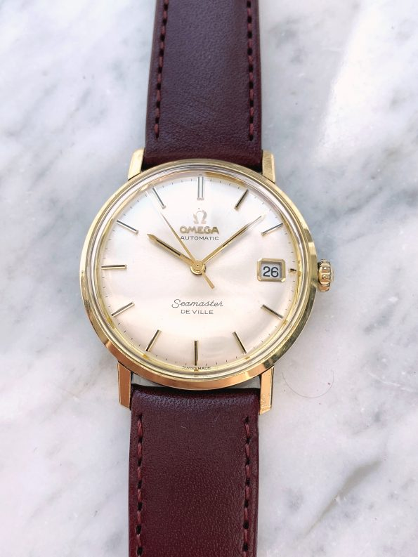 Yellow Gold Plated Omega Seamaster De Ville Automatic Vintage Date