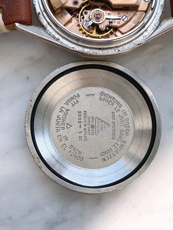 Black GILT Dial Unrestored Omega Seamaster Automatic Vintage Rose Gold Plated 2802