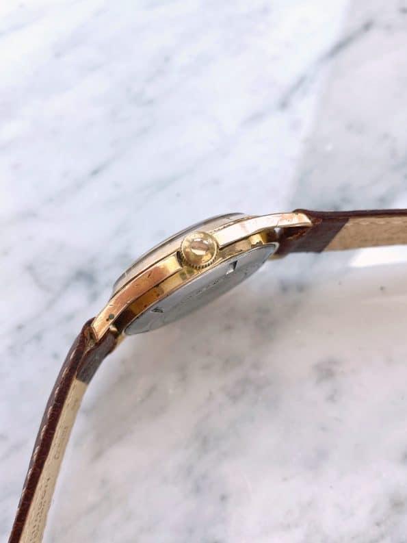 Vintage GUB Glashütte Gold Plated Unrestored Condition Explorer Dial