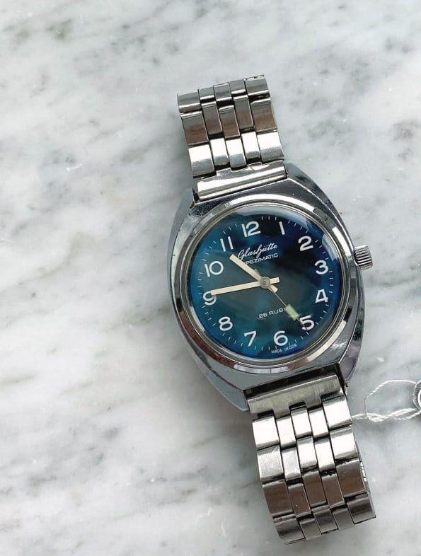 Customised Vintage GUB Glashütte Spezimatic Blue Dial