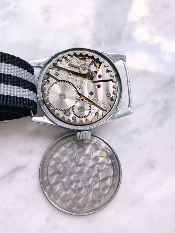 Vintage Octo Silvana Military Watch black dial Service Watch German Military