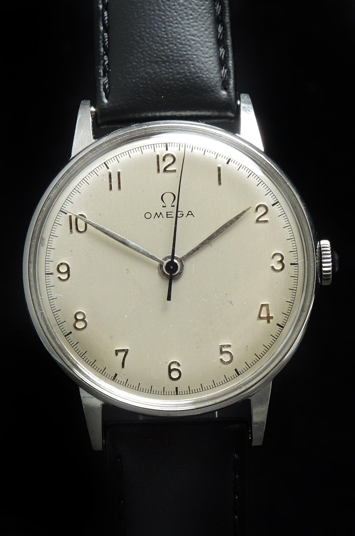 Tolle 1944 Omega Vintage Oversize Jumbo 37mm weisses 30t2