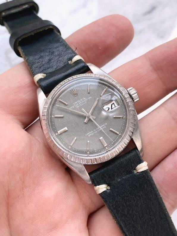 Superrare Grey Linen Dialed Rolex Datejust Automatic Vintage