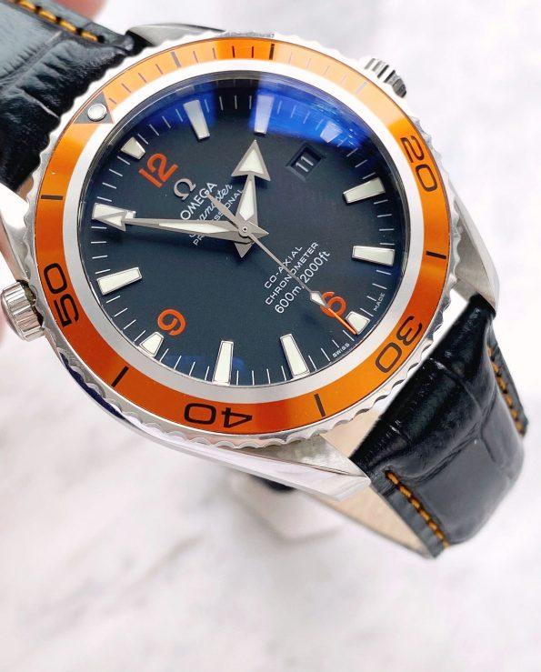 Omega Seamaster Planet Ocean 600m Co Axial Automatic Orange 2085000 Full Set