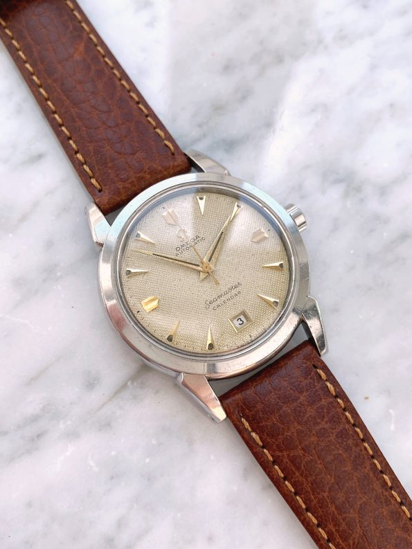 Investment Grade Omega Seamaster Automatic Vintage Honeycomb Dial 2627 Bumper