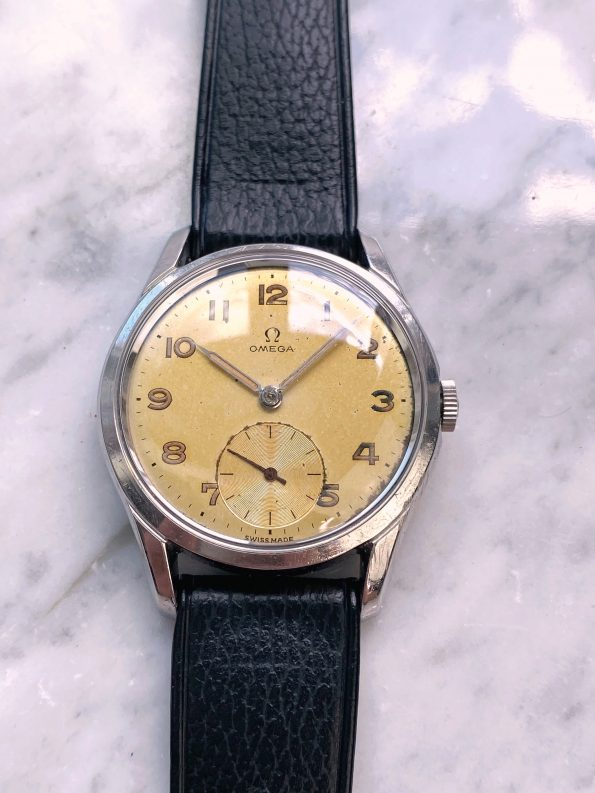 Serviced Vintage Omega ref 2604 with Tropical Dial Handwinding
