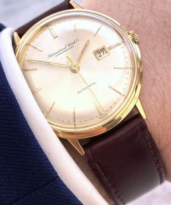 Vintage IWC Solid Gold 18ct Automatic Date 35mm