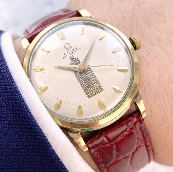 Extremely rare Vintage Omega Automatic Displaying the Chicago Tower