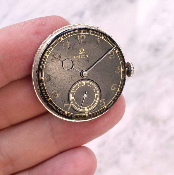 Vintage Omega 35mm Black Restored Dial Pontifex Hands