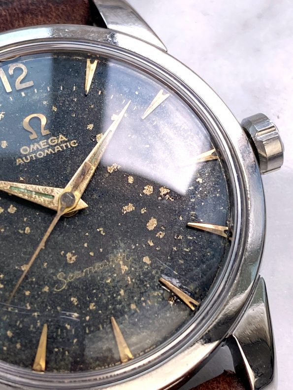 Black GILT Stardust Dial Unrestored Omega Seamaster Automatic Vintage Steel 2846 2848