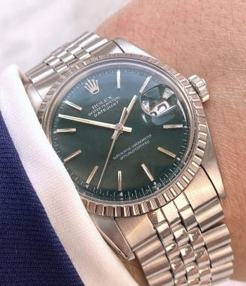 Customised Rolex Datejust 36mm Automatic Green Dial Vintage Jubilee Strap